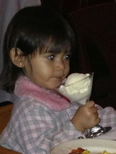 Zoey loves ice cream