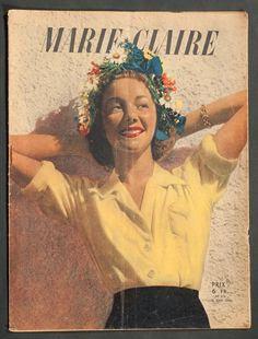 'MARIE-CLAIRE' FRENCH VINTAGE MAGAZINE SUMMER ISSUE 15 JUNE 1944 | eBay