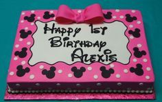 Minnie Mouse Sheet Cake   Sweet Expressions 1st birthday cakes by indy