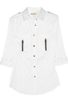 MICHAEL Michael Kors Stretch cotton-blend shirt   THE OUTNET