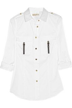 MICHAEL Michael Kors Stretch cotton-blend shirt | THE OUTNET