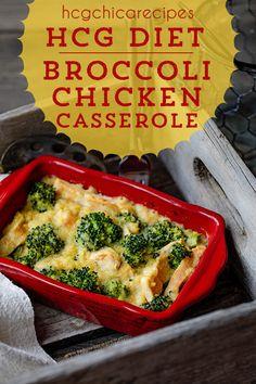 P2 hCG Diet Lunch Recipe - 186 calories: Cheesy Broccoli Chicken Casserole - hcgchicarecipes.com - protein + veggie meal