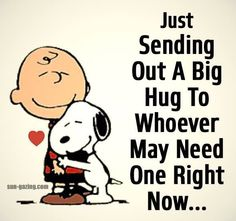 Snoopy is giving Charlie Brown a sweet hug ! Love Is In The Air, Love You, My Love, Love Quotes, Funny Quotes, Inspirational Quotes, Qoutes, Quotations, Comedy Quotes