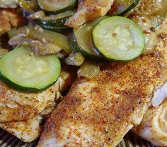 Spicy Tilapia With Mushrooms and Zucchini--trying this foil instead of frying....wish me luck :)
