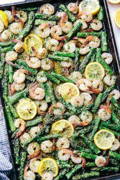 Sheet Pan Lemon Garlic Butter Shrimp with Asparagus – The Recipe Critic