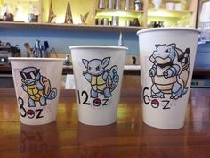 Any coffee shop who did this, would probably automatically become my favorite place. Except with charmander, charmeleon and charizard obviously.