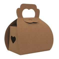 Ruby Rabbit Partyware - Kraft Heart Party Boxes