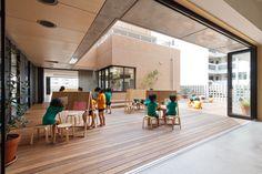 Imagen 5 de 29 de la galería de Kindergarten y Guardería Hanazono / HIBINOSEKKEI + Youji no Shiro. Fotografía de Studio Bauhaus