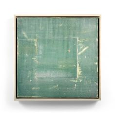 Bojagi #1. Original artwork created by SoHyun Bae in 2003. Pure pigment on rice paper on sand paper on canvas.