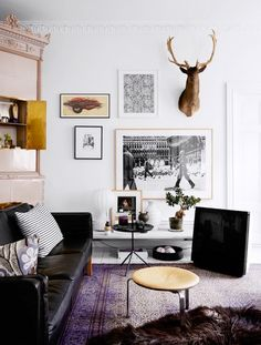 Shop the Room: A Hip Art-Filled Living Room via @domainehome