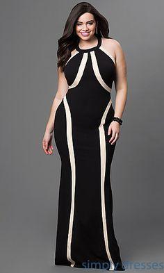 Sleeveless Floor Length T-Back Gown