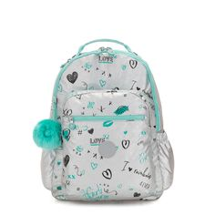 online shopping for kipling SEOUL GO Large Backpack Metallic Doodle from top store. See new offer for kipling SEOUL GO Large Backpack Metallic Doodle Small Backpack, Black Backpack, School Bags For Girls, Girls Bags, Sacs Kipling, Justice Backpacks, Cool Backpacks, Fashion Backpack