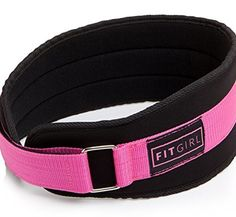 FITGIRL  Pink Weight Lifting Belt  Gym Fitness Crossfit Bodybuilding  Great for Squats Lunges Deadlift Thrusters