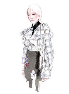 Fashion illustration for Kenzo Fall 2017 // Antonio Soares