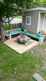 Reciclar, Reutilizar y Reducir Bloques de cemento is part of Backyard furniture diy - Diy Patio, Backyard Patio, Cinder Block Garden, Cinder Blocks, Cinder Block Bench, Pallet Garden Furniture, Diy Terrasse, Backyard Projects, Backyard Ideas
