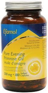 Efamol Pure Evening Primrose Oil (EPO) supplies 12% GLA. This premium EPO has one of the most biologically active forms of Gamma Linolenic Acid (GLA). GLA is an omega-6 fatty acid which acts as a precursor to prostaglandins, which are hormone-like substances that help regulate the body processes... more details at http://supplements.occupationalhealthandsafetyprofessionals.com/herbal-supplements/evening-primrose/product-review-for-evening-primrose-oil-500mg-180-capsules/