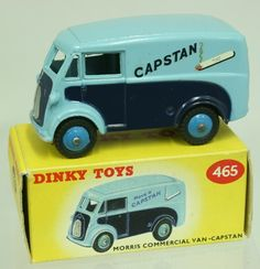 Dinky Toys Boxed Dinky Toys 465 1959 Morris Commercial Van 'Capstan'  light blue/dark blue body, mid blue hubs, 'Have a Capstan' E+E ( model is near mint with a excellent box)