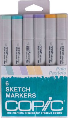 Copic Sketch Markers - Pale Pastels Set