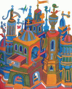 Miroslav Cipár, illustration for a children's book, 1977. Bratislava. Source