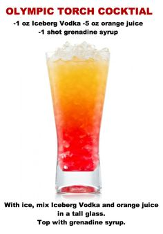 Iced Olympic Torch Cocktail