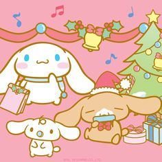 Cinnamoroll celebrated the holidays with friends.  What did you do?
