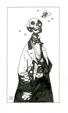 """""""Just some drawings. Comic Book Artists, Comic Artist, Hellboy Wallpaper, Character Concept, Character Art, Hellboy Tattoo, Art Sketches, Art Drawings, Mike Mignola Art"""