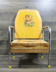 VINTAGE BO BEEP AND LITTLE BOY BLUE YELLOW WOOD POTTY TRAINING CHAIR   eBay Potty Training Chairs, Bentwood Rocker, Tall Plant Stands, Potty Chair, Rock A Bye Baby, Retro Office, Little Boy Blue, Mid Century Chair, How To Antique Wood