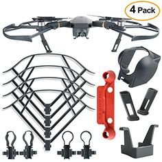 From 15.99 Kuuqa 4pcs Protection Accessories Kits For Dji Mavic Pro Including Landing Gear Extender Lens Hood Gimbal Guard Quick Release Propeller Prop Guard And Remote Controller Stick Thumb Protective Clip