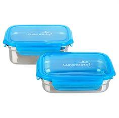 Vandtæt madboks i stål, 2 pak - lille - LunchBots Det sidste nye er vandtætte madbokse, også gode som madkasser. Så kan du tage yougurten, salat m dressing og meget andet med, uden at bekymre dig om, at det ryger ud i hele tasken. Også god som opbevaring i køleskabet!
