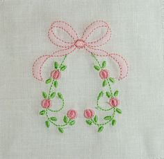 SE1013 Bullion Rose Heart with Shadow Embroidered Bow #bullion-rosebuds #machine-embroidery #shadow-embroidery