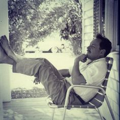 tennessee williams -- creative geniuses must put up their feet sometimes.