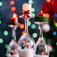Get festive for Christmas this year with these 5 cute decorating hacks! Bauble Wreath Materials needed: wire hanger assorted Christmas ornaments large Christmas bow  Wine Glass Snow Globes Materials needed: Mason jar lid tealight candle hot glue Christmas scenery decorations of your choice fake snow wine glasses Tree Topper Materials needed: Mason jar plastic drinking …