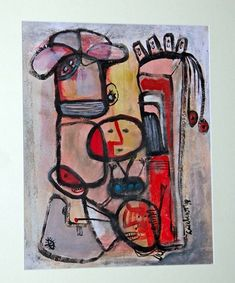 Lucebert (1924-1994) was een Nederlands dichter en schilder. Als dichter werd hij gezien als de voorman van de beweging van de Vijftigers, een progressieve groep dichters die na de Tweede Wereldoorlog begon te experimenteren met vorm en inhoud. Als schilder was hij nauw betrokken bij de Amsterdams poot van de experimentele Cobra-groep.  (1949)