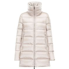 Women Moncler Cream Torcyn Ultra-Lightweight Padded Nylon Jacket