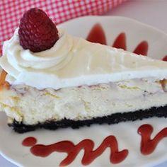 White Chocolate Raspberry Cheesecake - Allrecipes.com