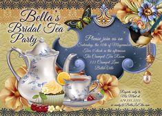Tea Parties Bridal Tea Party Invitation Tea Party by BellaLuElla, $12.00