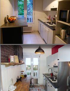 Expérience Déco by Acova et Emmanuelle Rivassoux : Avant/Après de la cuisine