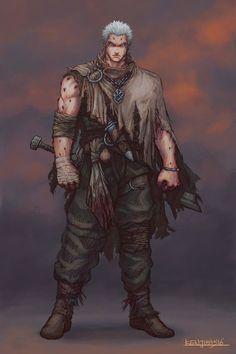 ArtStation - Character Concept Art: Warrior Redone, Guillem Daudén