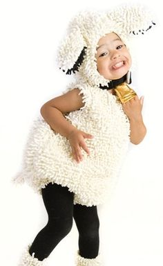 Kids White Lamb Jumpsuit Fuzzy Halloween Costume « Blast Gifts
