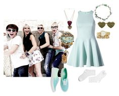 """""""If I Were In R5 942"""" by jordybell ❤ liked on Polyvore featuring Cameo, Vans, Juicy Couture, Betsey Johnson, Alex and Ani, Lipsy, Wet Seal, Wildfox, Eddie Borgo and Pilgrim"""