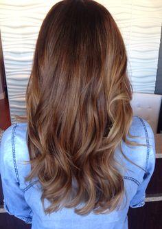 Balayage on medium brown hair. #balayage #brown #moroccanoil #shiny
