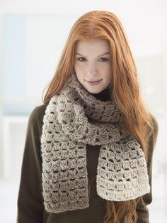 Make this beautiful ombre scarf with ease! With Lion Brand Scarfie, one skein makes a scarf! Now save 20% on this yarn for a limited time. Get the free crochet pattern and make it with a size J-10 (6mm) crochet hook.