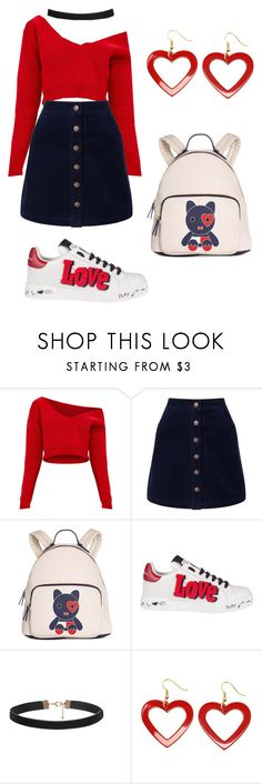 """""""red😍😍😍"""" by claudinhaleitao ❤ liked on Polyvore featuring beauty, Miss Selfridge, Tommy Hilfiger and Dolce&Gabbana"""