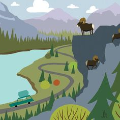 We're Going Camping - Through the Pass - Driving through the mountain pass for a camping adventure. Camping road trip wall art #campingroadtrips #weregoingcamping #letsgocampingnow #letsgocampingtoday #Iwishiwascamping #tentinglife #Tentcampinglife #campingaddiction #campingadventure #Campinglifeforme #campingart #campingartwork