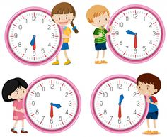 Children holding clock on white background vector image on VectorStock Telling Time Activities, Math Activities, Math Clock, Classroom Background, Education Icon, School Frame, 242, Bullet Journal Ideas Pages, Preschool Math