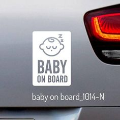 Baby on Board Decal - Safety Car Sticker for Window/Bumper 1011 Product Details: Stickers with letter N - 3.2x4.5 inches (80x115mm) Stickers with letter P - 2.9x4.5 inches (~73x115mm) You can choose different sticker code and color. - Default Color: WHITE - Finish: Gloss - Die-Cut Vinyl