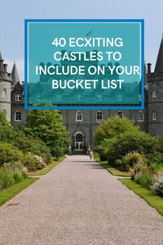 40 ECXITING CASTLES TO INCLUDE ON YOUR BUCKET LIST #ecxitingcastlesinclude Architecture Old, Castles, Bucket, The Incredibles, Exterior, Tours, Places, Outdoor, Outdoors