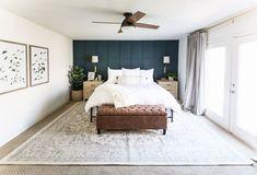 16 Dark Bedroom Ideas for a Moody and Dramatic Space Green Master Bedroom, Dark Bedroom Walls, Accent Wall Bedroom, Home Bedroom, Bedroom Decor, Bedroom Ideas, Dark Bedrooms, Modern Bedrooms, Bedroom Designs
