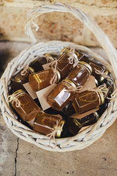 Homemade honey favours for country wedding | iZO Photography | See more: http://theweddingplaybook.com/romantic-australian-bush-wedding/