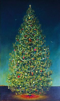 Philip Campbell Curtis: Christmas Tree, 1967 - still life quick heart